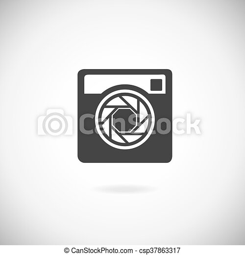 Hipster photo camera icon - csp37863317