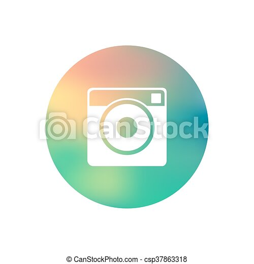 Hipster photo camera icon - csp37863318