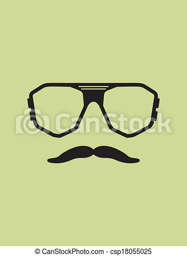 Hipster template. nerd glasses and mustaches.