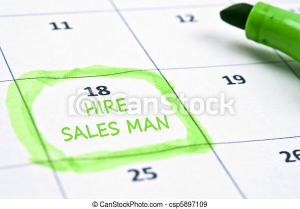 Hire sales man mark - csp5897109