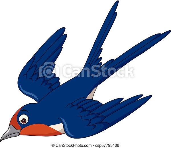 Hirondelle Voler Dessin Animé Oiseau Hirondelle Oiseau Volant