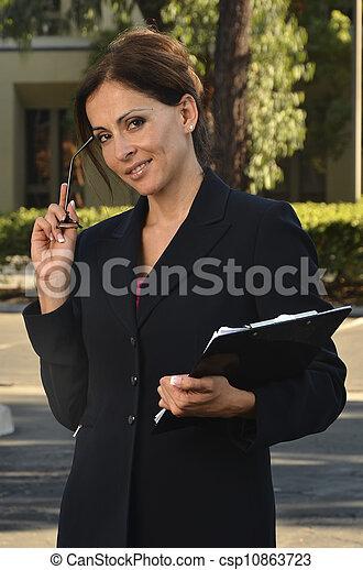 Hispanic Business Woman - csp10863723