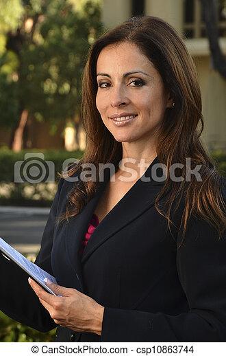 Hispanic Business Woman - csp10863744