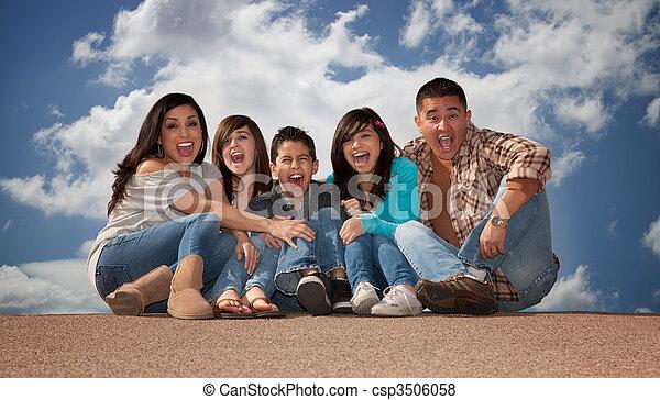 Hispanic Family - csp3506058