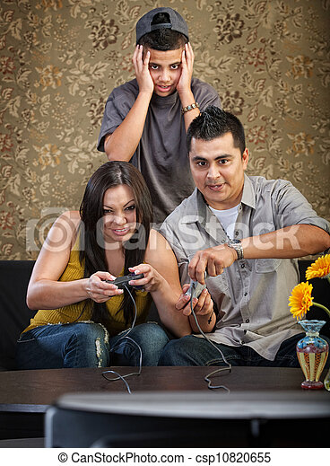 Hispanic Family - csp10820655