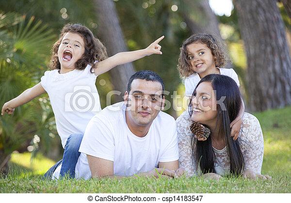 hispanic family - csp14183547