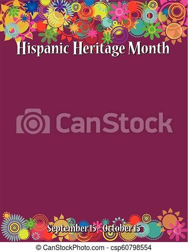Hispanic Heritage Month Poster Template