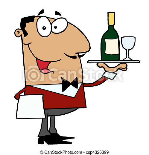 hispanic male waiter friendly hispanic male butler serving rh canstockphoto com water clip art free download water clip art pictures