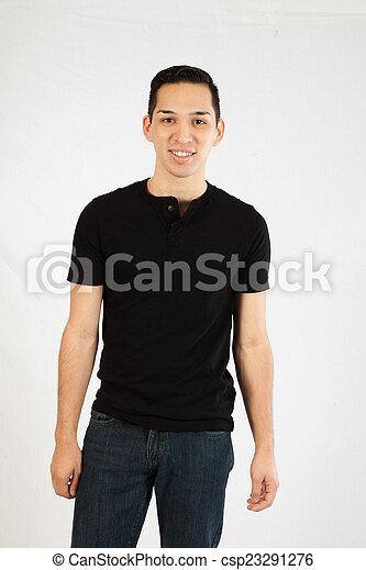 Hispanic man in black shirt - csp23291276