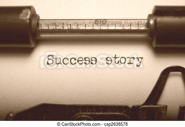 história, sucesso - csp2638578