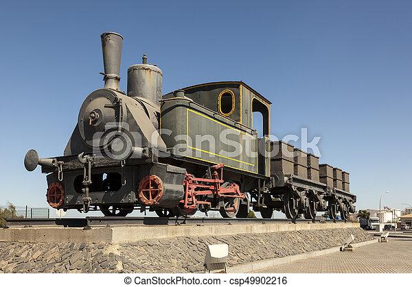 histórico, trem, vapor - csp49902216