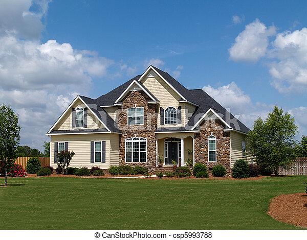 histoire, deux, maison, résidentiel - csp5993788