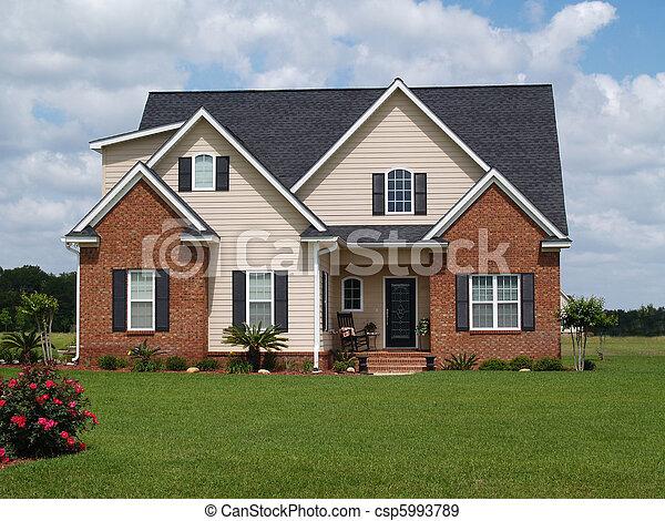 histoire, deux, maison, résidentiel - csp5993789