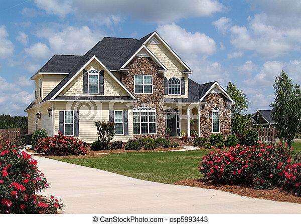 histoire, deux, maison, résidentiel - csp5993443