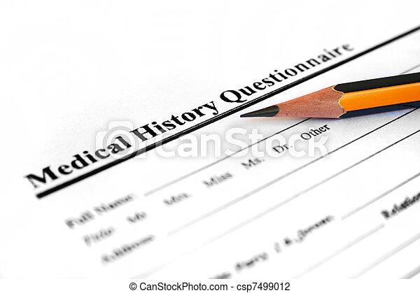 Forma de historia médica - csp7499012