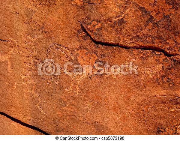 Historic Anasazi Petroglyphs - csp5873198