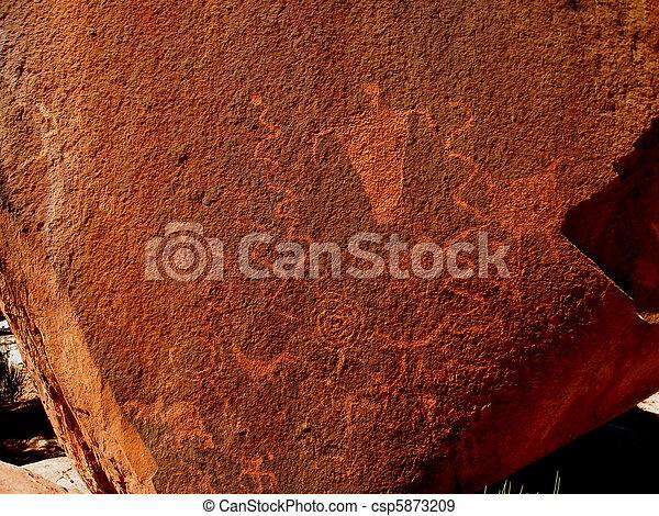 Historic Anasazi Petroglyphs - csp5873209