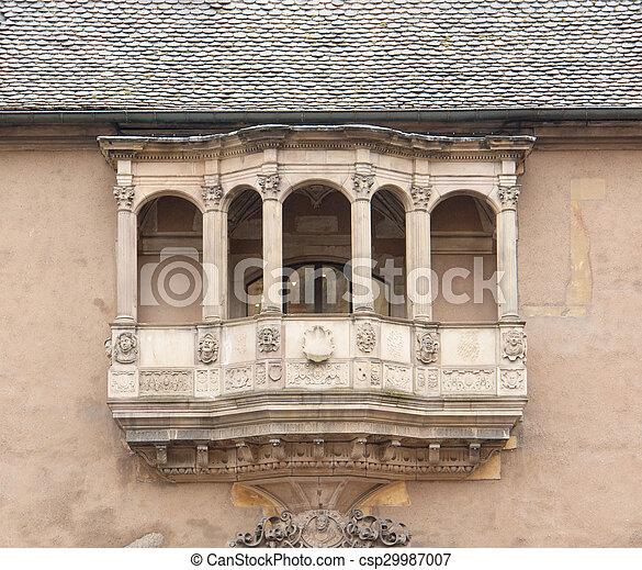 historic balcony - csp29987007