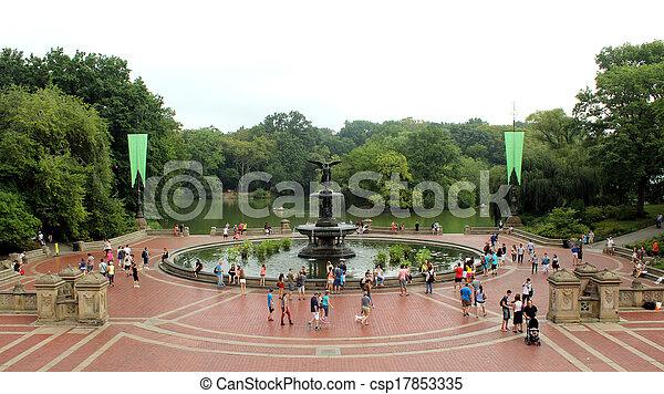 Historic Bethesda Terrace in Central Park - csp17853335