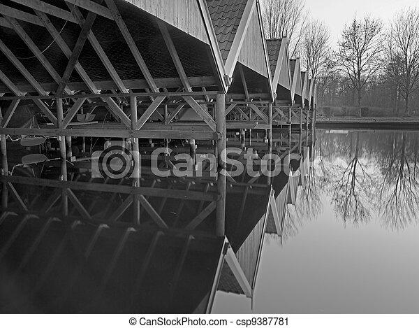 historic boathouse - csp9387781