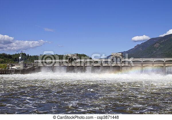 Historic Bonneville Dam 2 - csp3871448