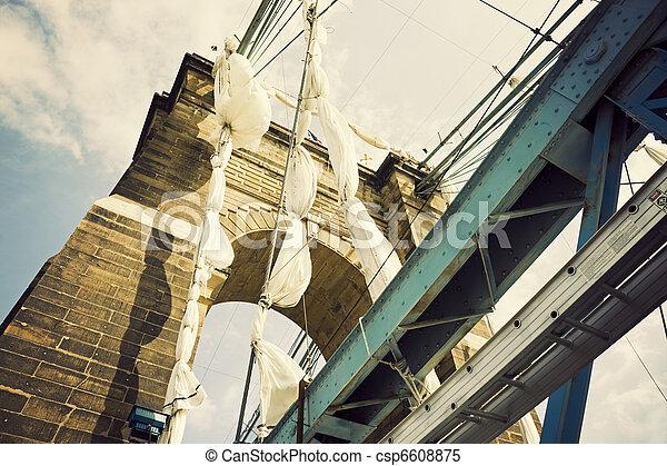 Historic bridge in Cincinnati - csp6608875