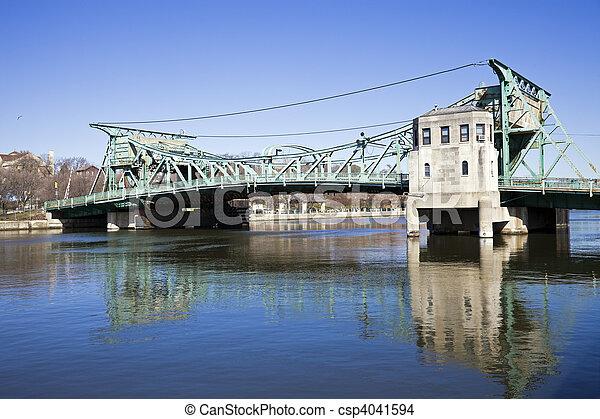 Historic bridge in Joliet - csp4041594
