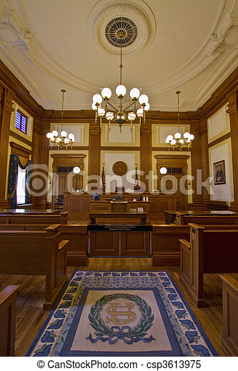 Historic Building Courtroom 2 - csp3613975