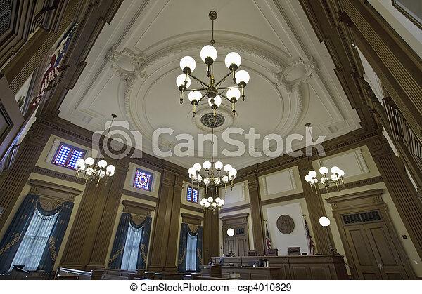 Historic Building Courtroom 4 - csp4010629