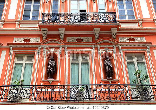 Historic building elevation - csp12249879