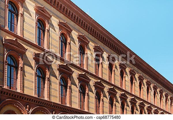 historic building facade, historical exterior of the Postfuhramt, Berlin - csp68775480