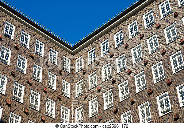 Historic building facade in Hamburg - csp25961172