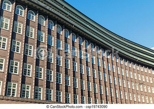 Historic building facade in Hamburg - csp19743090