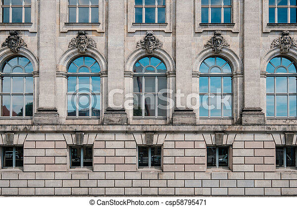 Historic building facade of the Bode Museum at Museum Island (Museumsinsel) in Berlin - csp58795471