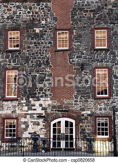 Historic Building Facade - csp0820658