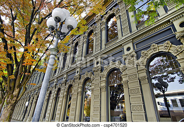 Historic Building in Downtown Salem Oregon - csp4701520