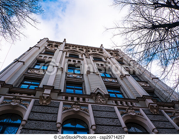 historic building in Riga, Latvia - csp29714257
