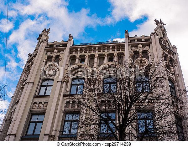historic building in Riga, Latvia - csp29714239
