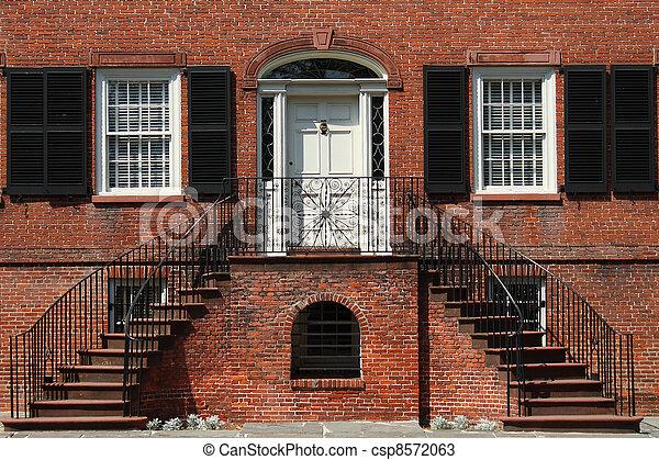 Historic building in Savannah - csp8572063