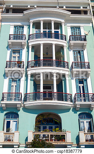 Historic building located at Thessaloniki city in Greece.  Area of Aristotle  square. - csp18387779