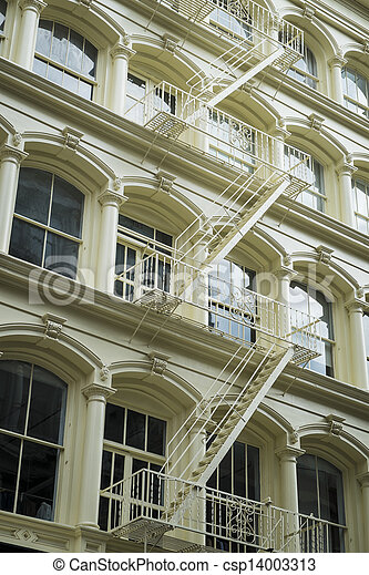 Historic buildings in New York City's Soho District - csp14003313