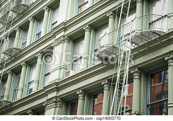 Historic buildings in New York City's Soho District - csp14003770
