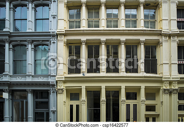 Historic buildings in New York City's Soho District - csp16422577