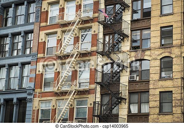 Historic buildings in New York City's Soho District - csp14003965