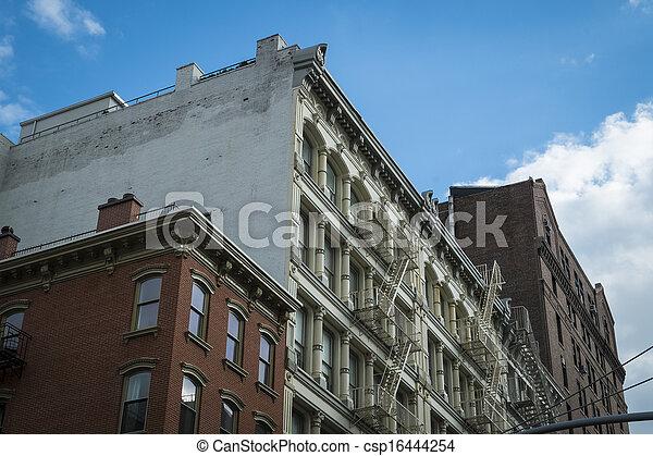 Historic buildings in New York City's Soho District - csp16444254