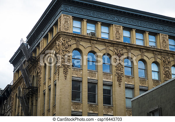 Historic buildings in New York City's Soho District - csp16443703