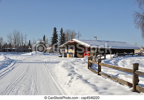 Historic Cabin in Fairbanks, Alaska - csp4546220