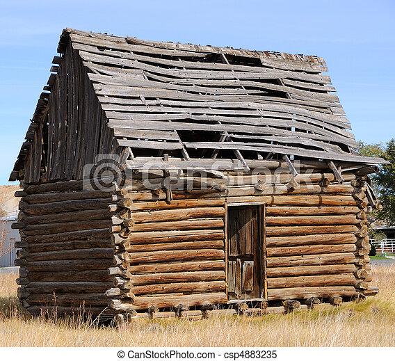 Historic Cabin in Utah Town - csp4883235