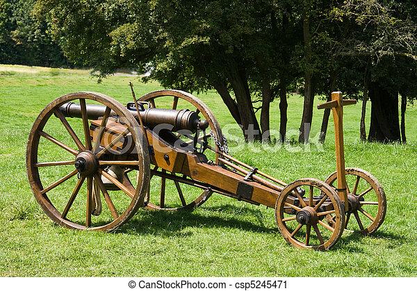 Historic canon on cart - csp5245471