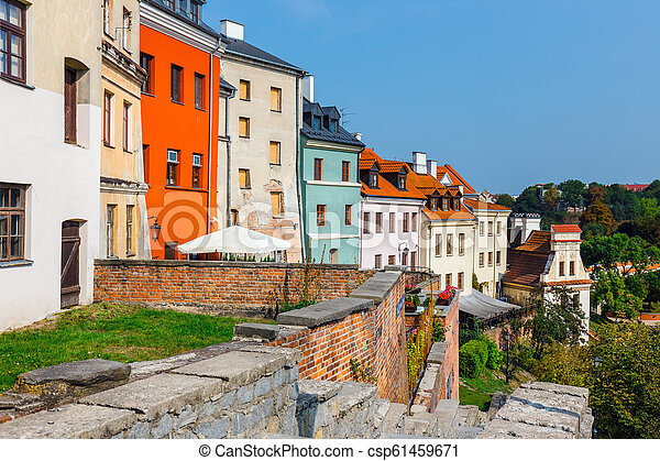 Historic center of the old town in Lublin, Poland. - csp61459671